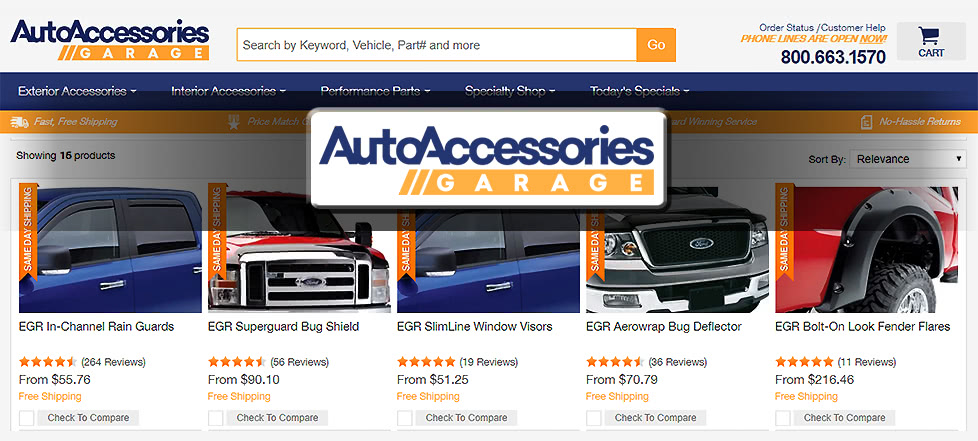 Auto Accessories Garage website