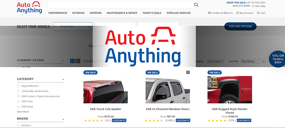 Auto Anything website