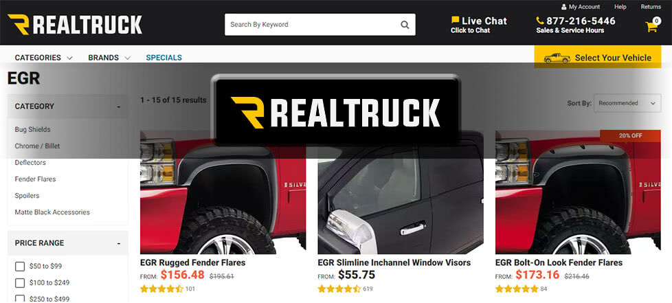 Real Truck website